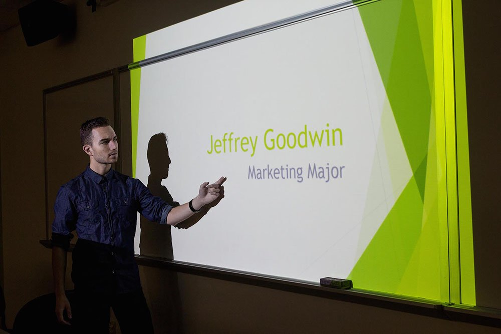 Jeff G. conducts a presentation